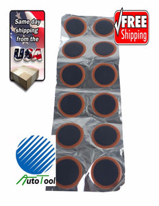 "Vulcanizing 32 mm(1.25"") Round Tube Patches Bag of 12"