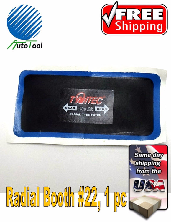 Dual Cure Square Booth Radial Tire Repair Patch 3-1/4