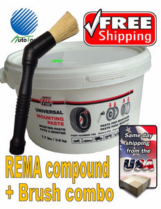 Rema-Tire-Universal-Mounting-Lube-Paste-Brush-Made-In-USA-75N-combo