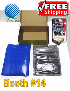 "Dual Cure Square Booth Radial Tire Repair Patch 3-3/8"" x 5-1/8"" Box of 10"