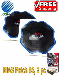 "OTR BIAS Tire Repair Patch #5 OFF ROAD AGRICULTURAL TIRE 6-1/2"" Bag of 2 Europe"