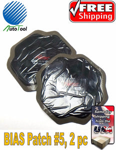"OTR BIAS Tire Repair Patch #5 OFF ROAD AGRICULTURAL TIRE 7"" Bag of 2 USA style"