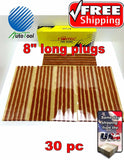 Brown Seal Tire Plugs 30 SEALS 100% SELF VULCANIZING TUBELESS TIRE REPAIR PLUG