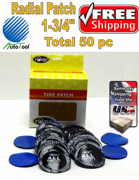 (50) pc 1-3/4in Small Round USA Style Universal Repair Tube Radial Tire Patch