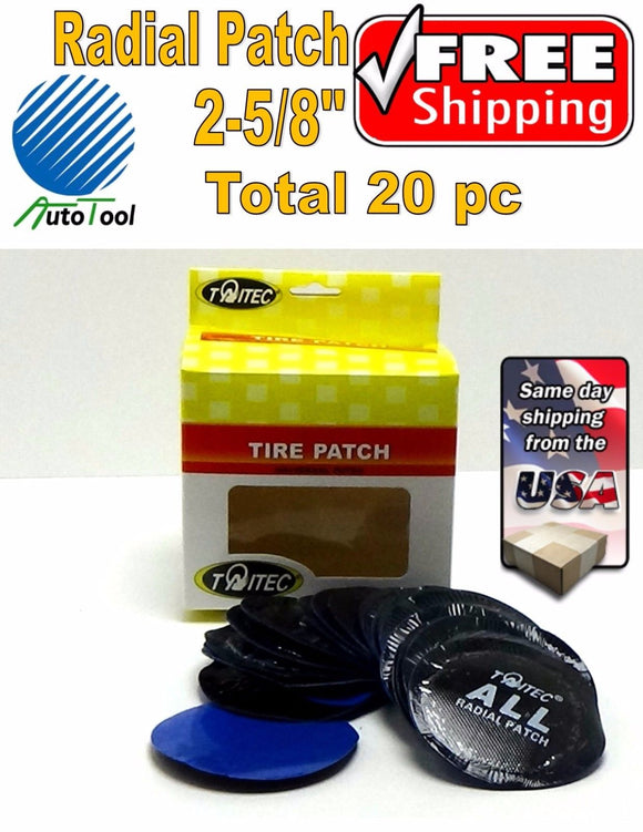 (20) pc 2-5/8in large Round USA Style Universal Repair Tube Radial Tire Patch