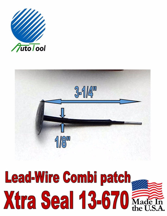 Xtra Seal Lead-Wire Small Combination Tire Plug Patch Repair 31 inc 13-670