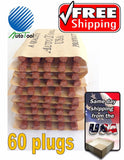 60 PLUGS SEALS 100% SELF VULCANIZING TUBELESS TIRE REPAIR PLUG