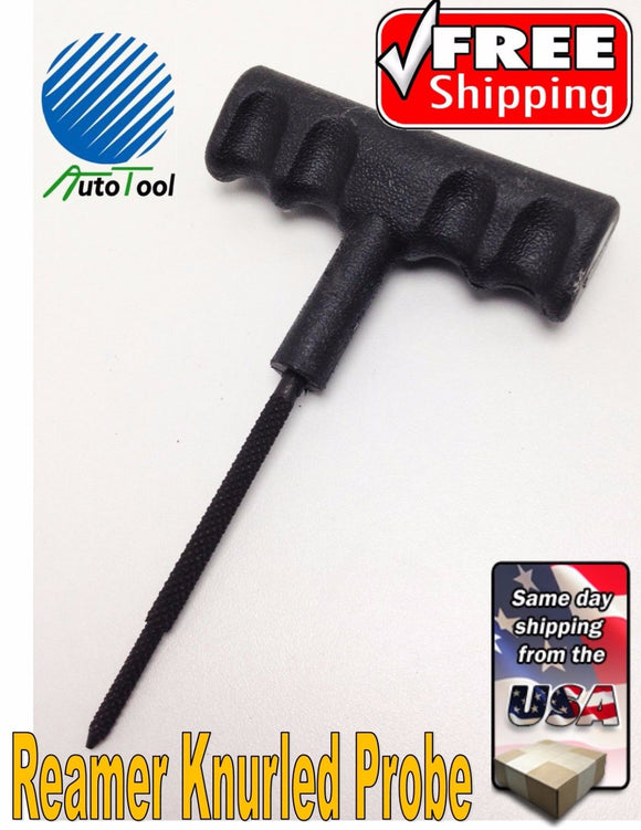 PROFESSIONAL TIRE PLUG PROBE TOOL REAMER REPAIR KIT HEAVY DUTY PLASTIC HANDLE