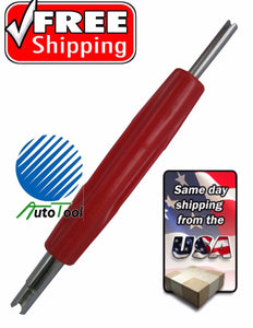 Dual Schrader Valve Core Remover Installer Changer SOLID HVAC Service Tool Tire