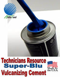 Vulcanizing Glue Cement SUPER-BLU 240 cc, 8 Oz Xtra Seal Made In USA TECH RESOUR