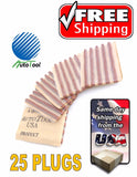 Brown Seal Tire Plugs 25 SEALS 100% SELF VULCANIZING TUBELESS TIRE REPAIR PLUG