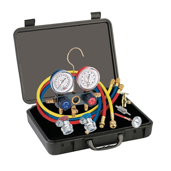 R134a Aluminum Manifold Gauge Set MOUNTAIN 8204B