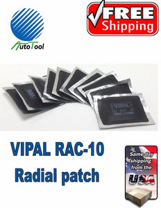 "Dual Cure HOT Square Booth Radial Tire Repair Patch 2 "" x 3 "" Box of 10"