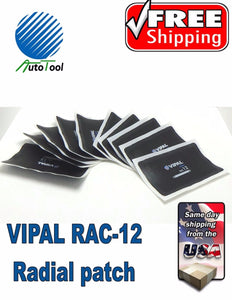 "Dual Cure HOT Square Booth Radial Tire Repair Patch 2-7/8 "" x 4-5/8 "" Box of 10"