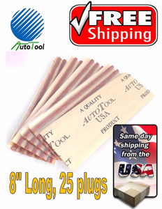"Brown Seal 8"" Tire Plugs 25 SEALS 100% SELF VULCANIZING TUBELESS TIRE REP PLUG"