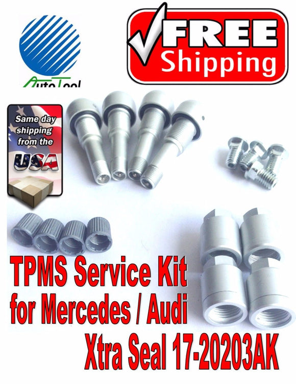 4 TPMS Service Kit for Audi Mercedes Xtra Seal 17-20203AK