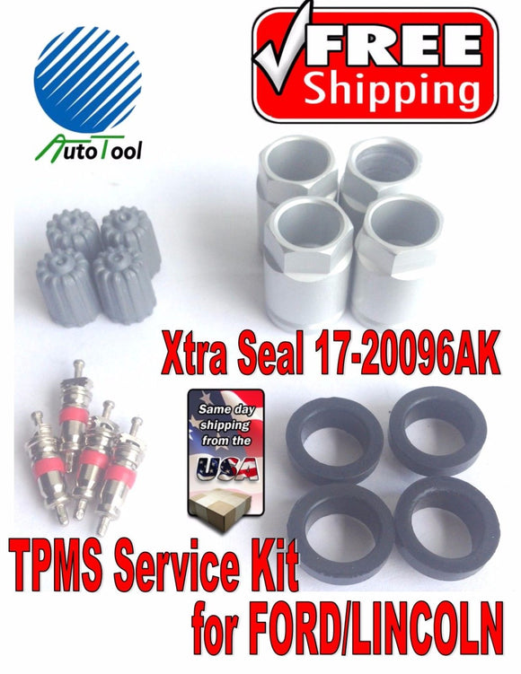 4 TPMS Service Kit for Chrysler Dodge Mitsubishi Xtra Seal 17-20028AK