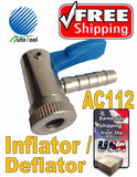 Automatic Tire Deflator/Inflator OPEN Air Chuck AC1112 Chrome/Pastic Finish