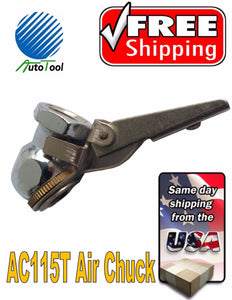 "SOLID BRASS BALL TIRE INFLATOR AIR CHUCKS 1/4"" NPT VH-691 with CLIP"