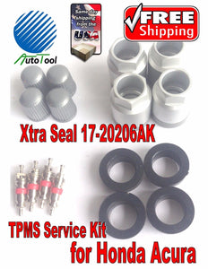 4 TPMS Service Kit for HONDA ACURA Xtra Seal 17-20206AK