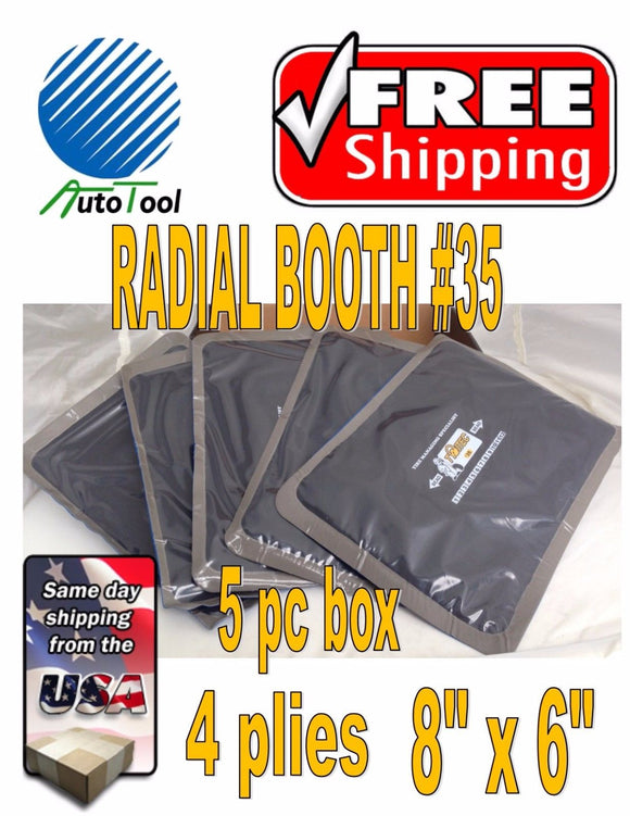Dual Cure Square Booth Radial Tire Repair Patch 6