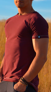 KB Essential Tee in Bordeaux
