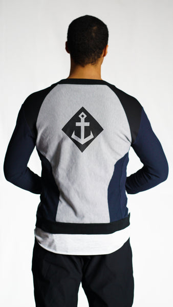 KB Fearless Jacket in Navy-Grey
