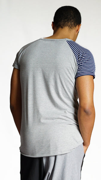 KB Free Tee in Navy Stripe