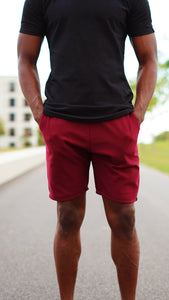 KB Devon Shorts in Bordeaux