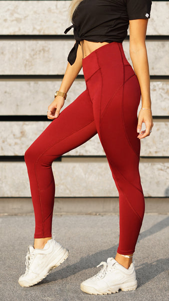 KB Strong Leggings in Bordeaux