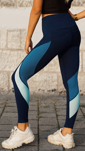 KB Strong Leggings in Shades of Blue