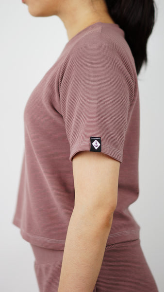 KB Dreamer Cropped Tee in Mauve