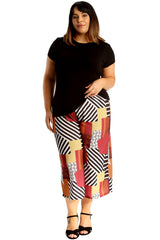 6130 Abstract Print Culottes