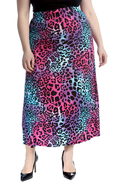 5044 Multi Leopard Print Skirt
