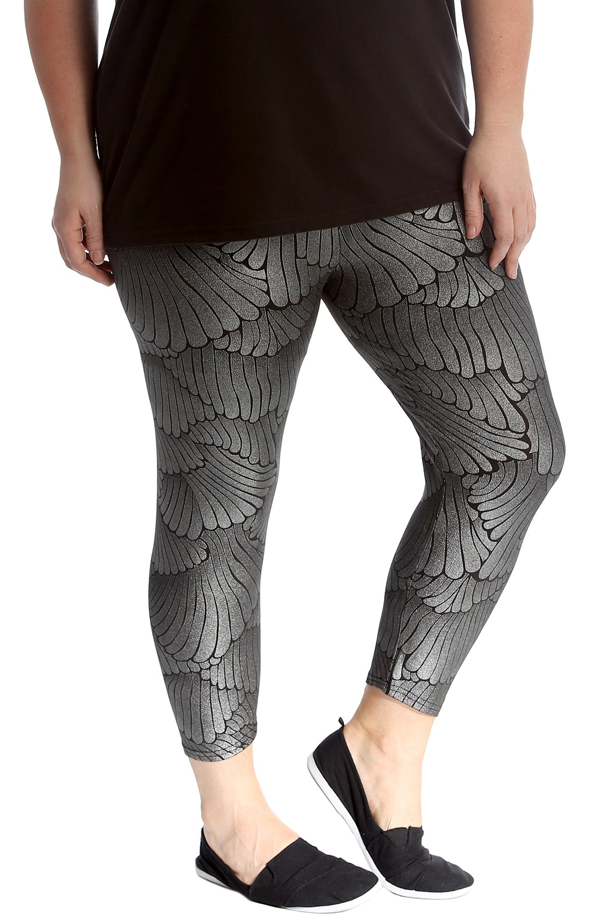 7209 Wings Disco Fabric Leggings