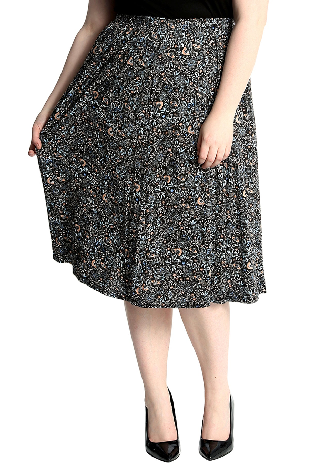 5016 Multicolor Floral Maxi Skirt