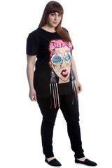 1530 Graphic Print Applique T-Shirt