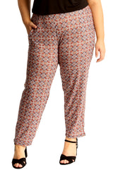 6152 Tile Print Side Pocket Trousers