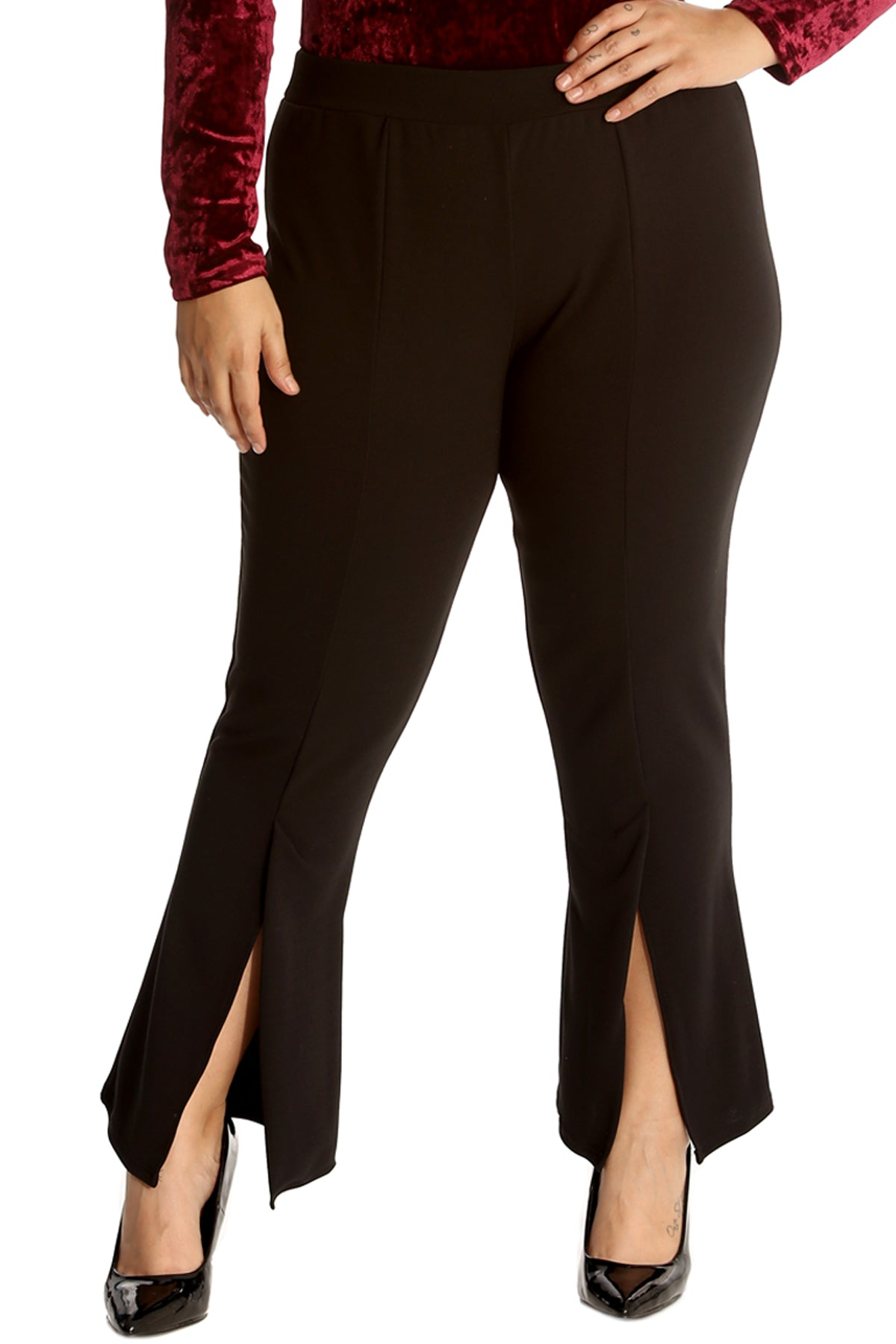 6023 Front Slit Trousers