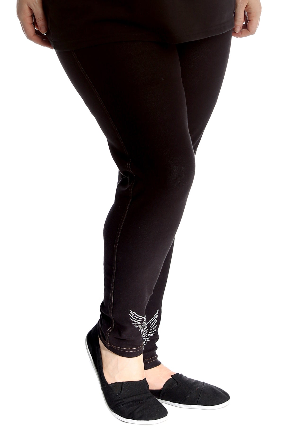 7213 Angel Wings Stud Jeggings