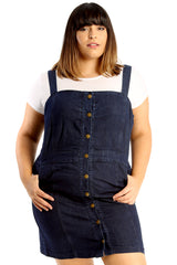 2211 Dungaree Style Dress