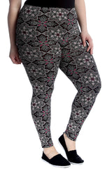 7193 Moroccan Mirror Print Leggings