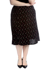 5034 Small Floral Print Skirt
