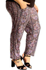 6114 Paisley Print Side Pocket Trousers