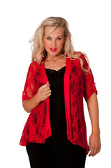 3072 Diamante Button Sleeve Cardigan