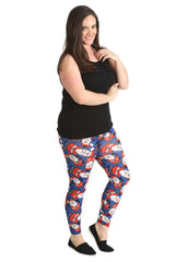 7116 Santa Print Leggings