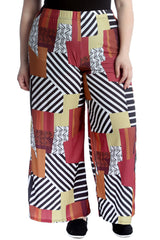 6105 Abstract Print Palazzo Trouser
