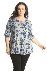 1576 Butterfly 2 Button Top