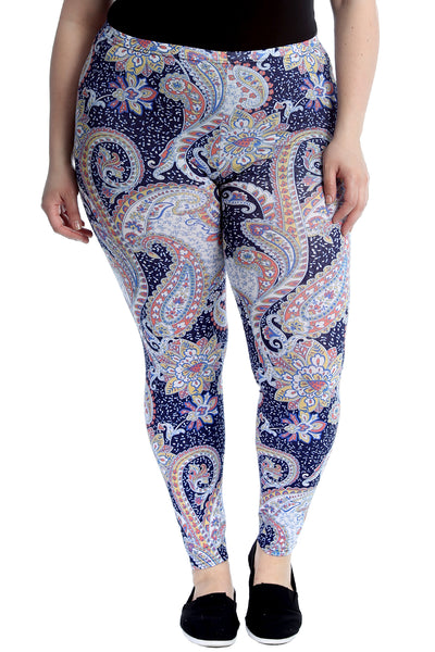 7195 Paisley Print Leggings
