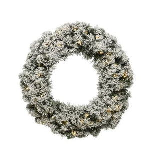 Imperial wreath snowy 40 LED 50 cm